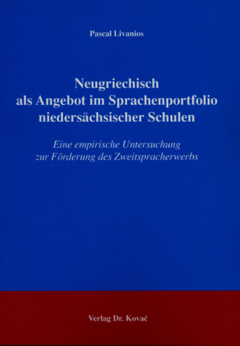 Livanios, Pascal: Neugriechisch als Angebot im Sprachenportfolio niedersächsischer Schulen